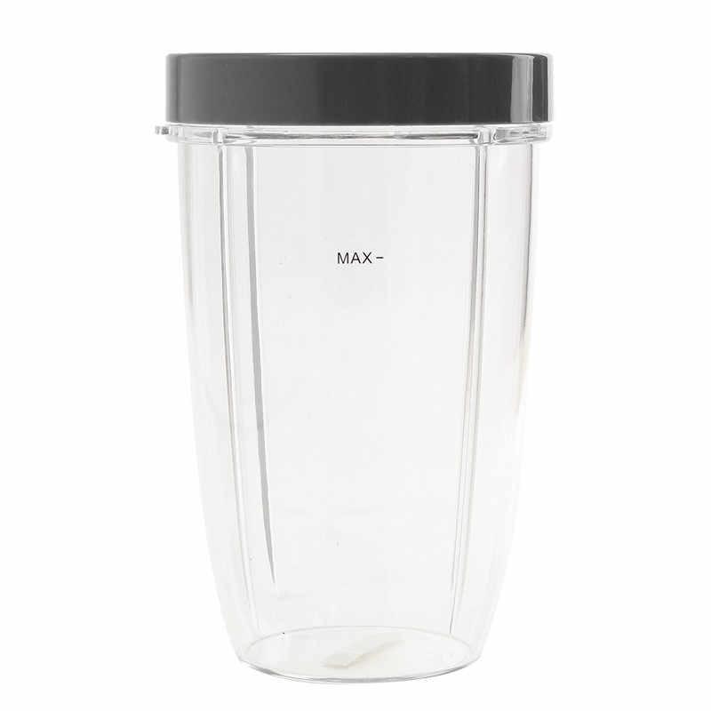 24 Oz Espremedor De Peças Cinza Substituição Copo Transparente Com Tampa de Plástico Para Liquidificador Nutribullet Para Nutri Para Bala