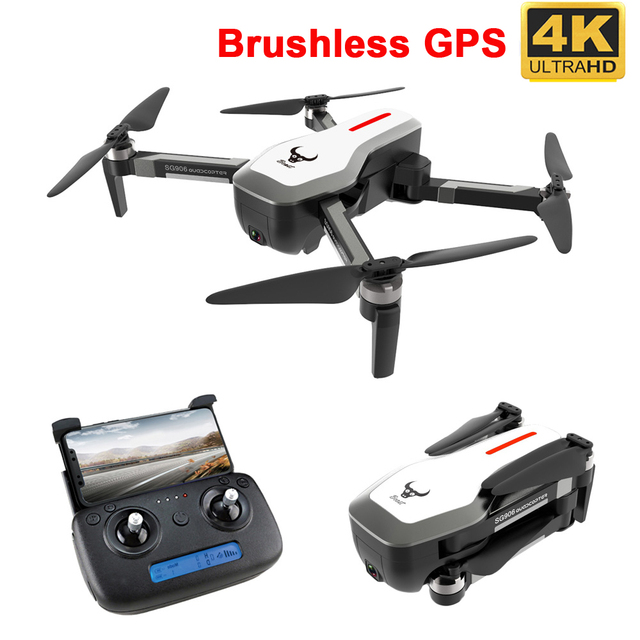 "SG906 GPS 5G WIFI FPV RC Drone 4 K Brushless Selfie ""טים עם מצלמה HD RC Quadcopter מתקפל Dron VS Visuo XS816 F11 Drone"