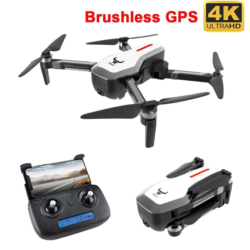 SG906 GPS 5G WIFI FPV RC Drone 4K sans brosse Selfie Drones avec caméra HD RC quadrirotor pliable Dron VS Visuo XS816 F11 Drone