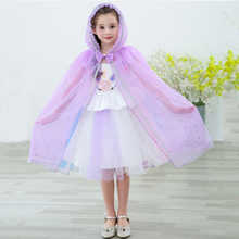Girl Kids Cloak Princess Snow White Elsa Belle Aladdin Jasmine Cosplay Costume Long Children Halloween Carnival Party Cloak 2018 kids girl princess snow white cosplay costume dress children girl party dress with oversleeves cloak wg187