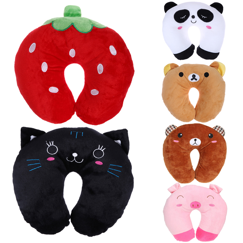 Travel Neck Pillow Multi-Color Cartoon Animals U Shaped Pillow Comfortable 6 Colors Neck Support Head Rest Cushion