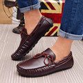 2016 Nueva Caliente Del Invierno Zapatos de Los Hombres de Los Holgazanes Planos de La Manera de LA PU Zapatos Planos de Los Hombres Casuales de Cuero Genuino Oxford mocasines Zapatos de Conducción