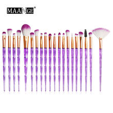 7-20Pcs Diamond Makeup Brushes Set Bubuk Foundation Blush Perona Bibir Kosmetik Kecantikan Make Up Brush Pincel maquiagem(China)