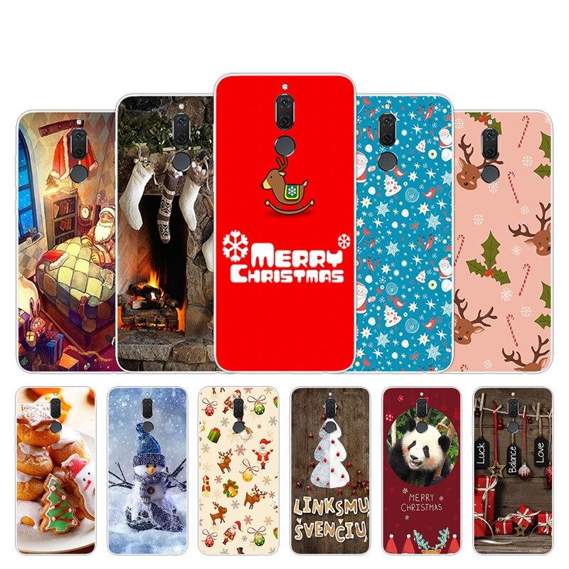 For Huawei Nova 2I Fundas 5.9 Inch Soft TPU Christmas Season Design Phone Case For Maimang 6 Cover For Huawei Mate 10 Lite Shell