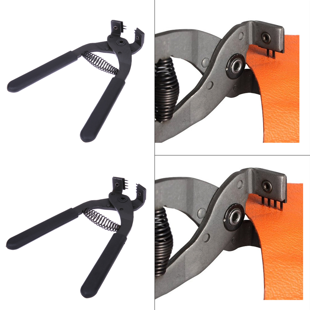 Hole Puncher 4mm Profession Leather Craft Hole Punches Tools Spacing Stitching Chisel Piercing Nippers 2 Prongs /4 Prongs Pliers