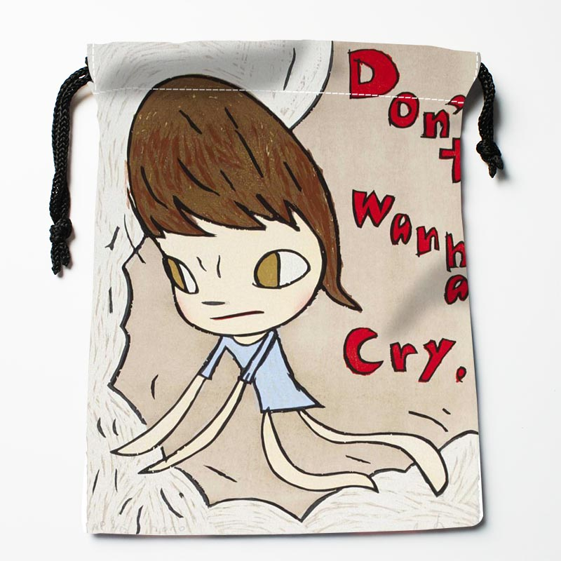 Hot Sale Custom Yoshitomo Nara Drawstring Bags Custom Storage Bags Storage Printed Gift Bags More Size 27x35cm