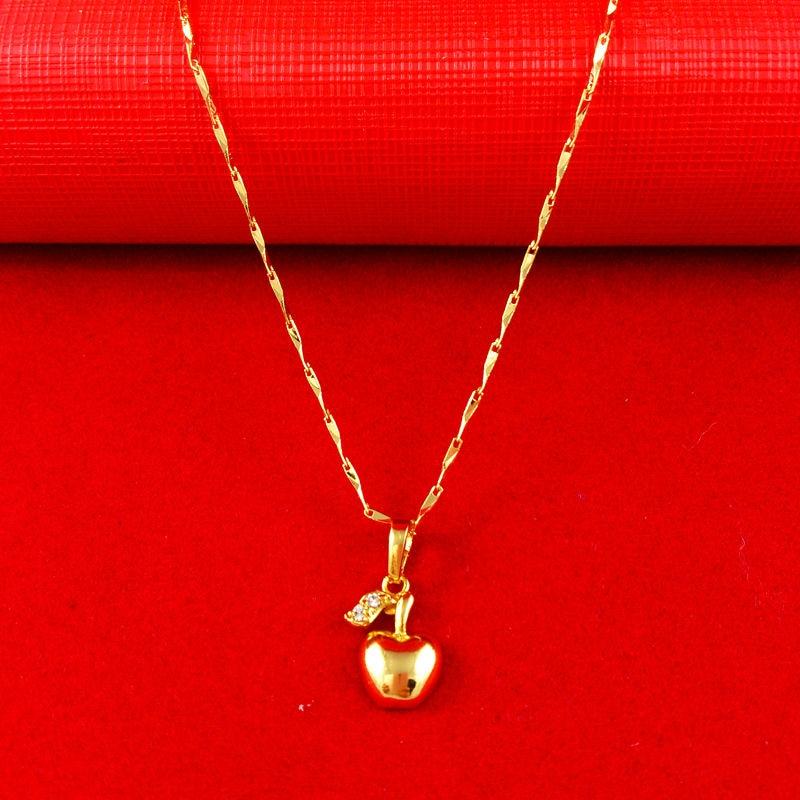 New fashion jewelry vacuum plating 24k gold women necklace pendant getsubject aeproduct aloadofball Image collections