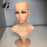 Female PE Mannequin Head Wigs Hats Cap Glasses Headphone Display Model Stand Window Mannequin Head