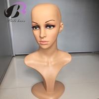 Female PE Mannequin Head Wigs Hats Cap Glasses Headphone Display Model Stand Window Mannequin Head