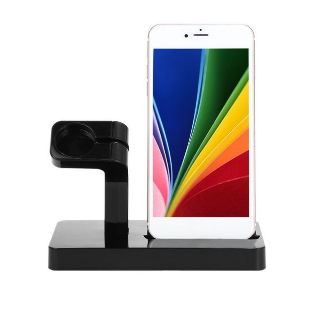 another chance 957b3 5f993 US $11.27 6% OFF|Portable 2 in 1 Charger Charging Docking Station for  iPhone x 7 SE Mobile Phone for iWatch Desktop Holder for Apple Series  Stand-in ...