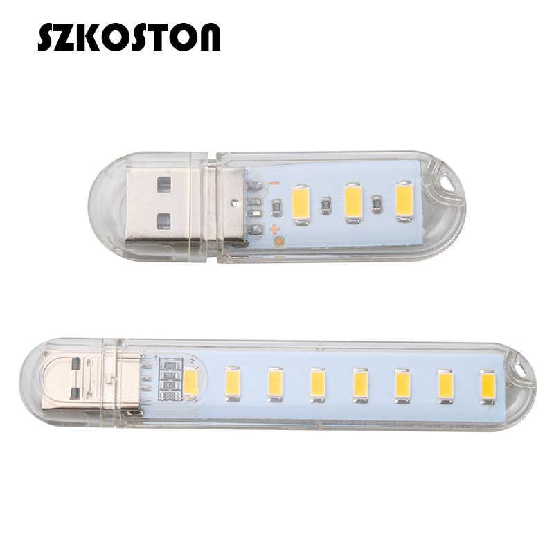 SZKOSTON מיני כוח נייד USB LED אור מנורת קמפינג גאדג 'ט תאורה מחשב קטן לילה אור למחשב נייד מחשב מחשב נייד