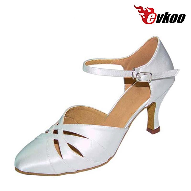 Evkoodance Comfortable Five Color Zapatos De Baile Woman Close Toe Modern Ballroom Dance Shoes 7cm Heel Evkoo-034Evkoodance Comfortable Five Color Zapatos De Baile Woman Close Toe Modern Ballroom Dance Shoes 7cm Heel Evkoo-034