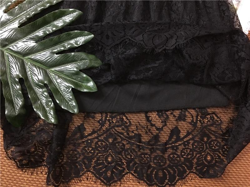 Musim semi Musim Panas Wanita Rok Sexy Lace Mesh Berongga Out Slim - Pakaian Wanita - Foto 4