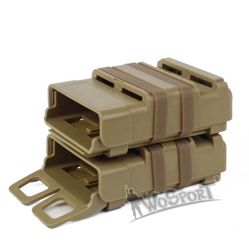 Wholesale Tactical 5.56 version of FAST MAG quick pull <font><b>M4</b></font> <font><b>Magazine</b></font> Pouch Outdoor module combination two sets Black Green Tan image