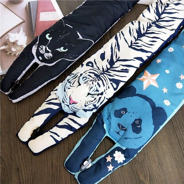 Новые пуховые шарф шеи кольцо надувные шарфы-снуды, Водонепроницаемый Для женщин Для мужчин мягкие Теплый пуховик с рисунком панды/кошка шарф с пуговицами