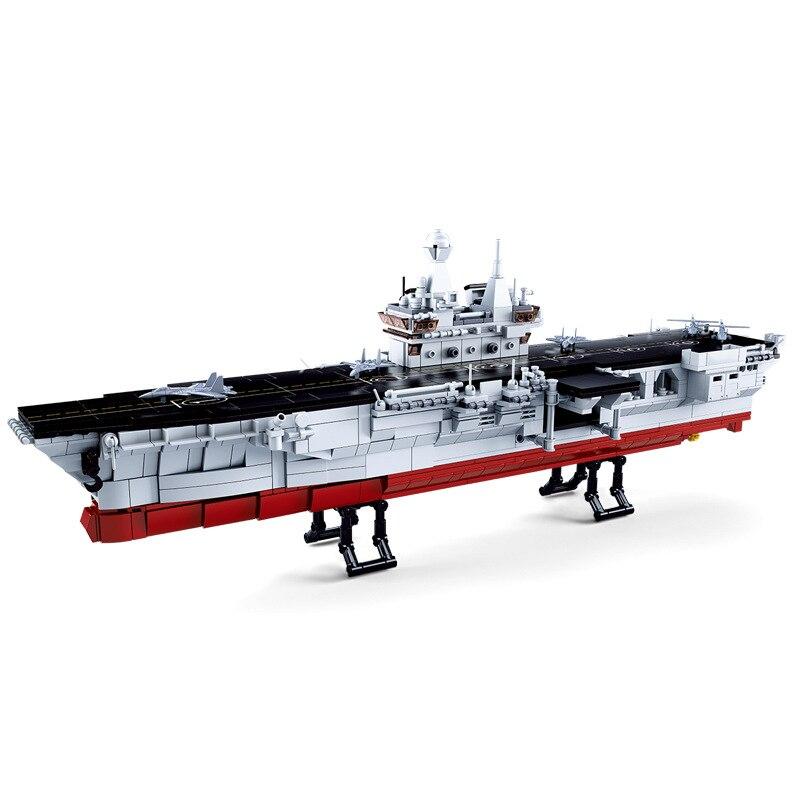 1088pcs Children s building blocks toy Compatible city military Amphibious assault ship figures Bricks birthday gifts