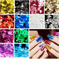 3D Nail Rhombus Glitter Diamond Shinny Gold Blue Silver Powder Dust Tip Rhinestone Manicure Tools Nail Art Decoration 4g/pcs