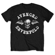 Funny T Shirts Online Novelty Avenged Sevenfold Classic Deathbat O-Neck Short-Sleeve Mens Tees