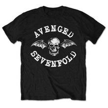 лучшая цена Funny T Shirts Online Novelty Avenged Sevenfold 'Classic Deathbat' O-Neck Short-Sleeve Mens Tees