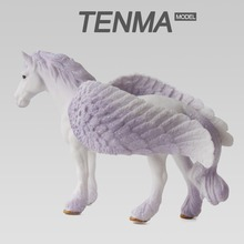 Pegasus Model Purple Unicorn Noble And Pure With Swing Flying Shop Decoration Or Gift For Collection Plastic Animal Toy