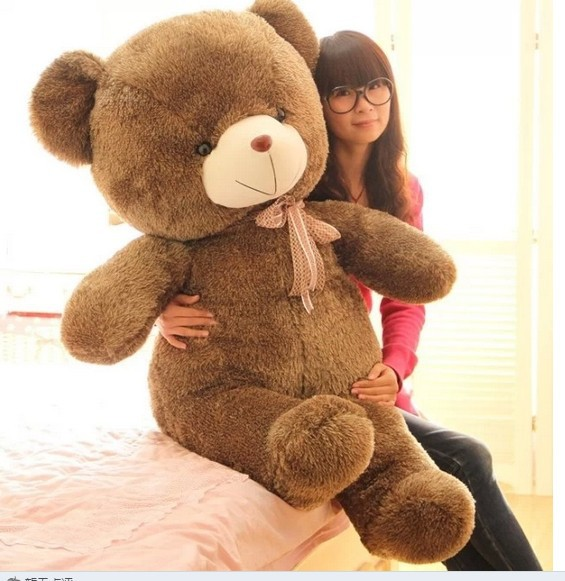 Stuffed animal Teddy bear about 55 inch plush toy 140 cm bear throw pillow doll wb506 new stuffed light brown squint eyes teddy bear plush 220 cm doll 86 inch toy gift wb8316