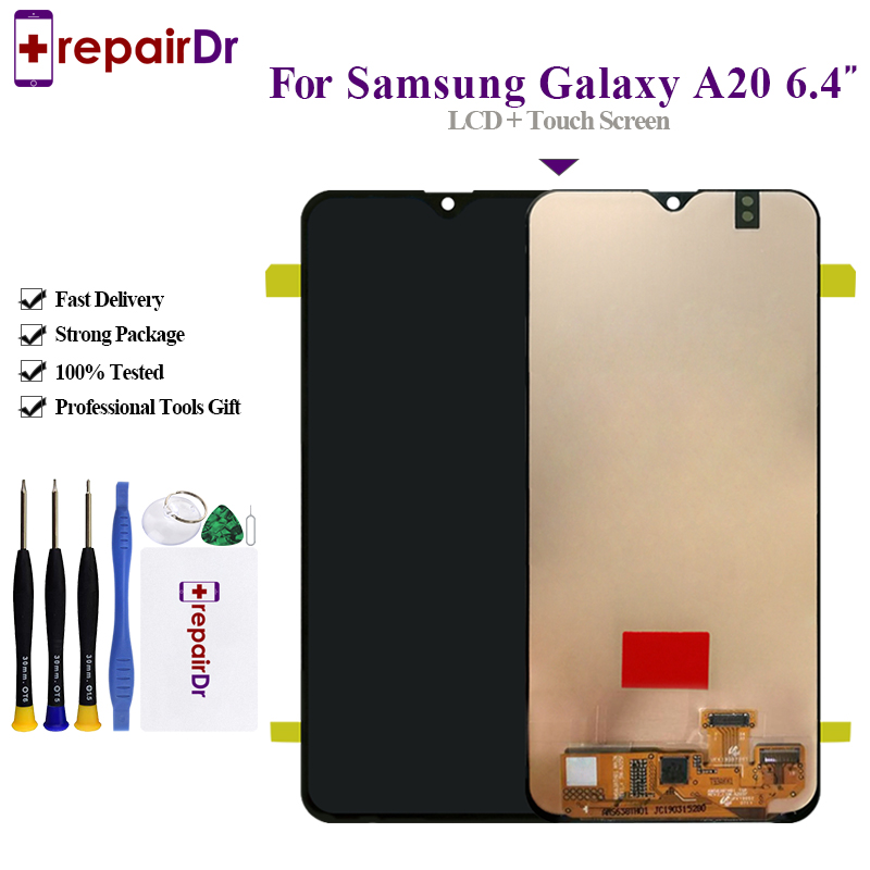 Original For Samsung Galaxy A20 A205 SM A205F Display Lcd Screen Replacement For Samsung A20 Lcd
