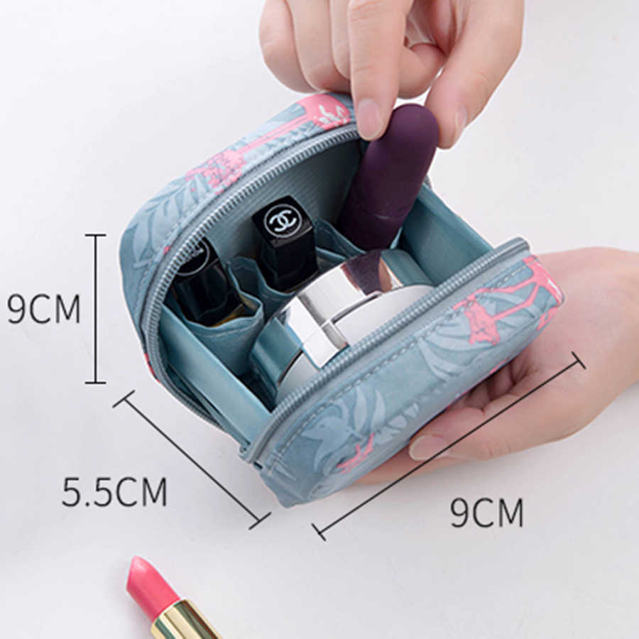 Cổ điển Hoa Đẹp Nhỏ Túi Mỹ Phẩm Cho Make Up Trang Điểm Mỹ Phẩm Túi Tổ Chức Di Động Porta Pennelli Trucco Zip 60A005