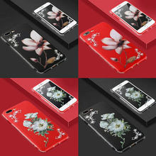 Flower Silicone Phone Case For Huawei Y5 Y6 Y7 Pro Y9 2018 Y7 Prime Honor 10 V10 8 9 Lite 7X 6X 5X 9i Cover Glitter Back Case(China)