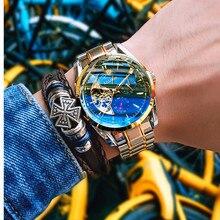 купить AOLISHI Relogio Masculino Men's Watches Top Brand Luxury Waterproof Automatic Watch Tourbillon Mechanical Watch Movement reloj по цене 2509.02 рублей
