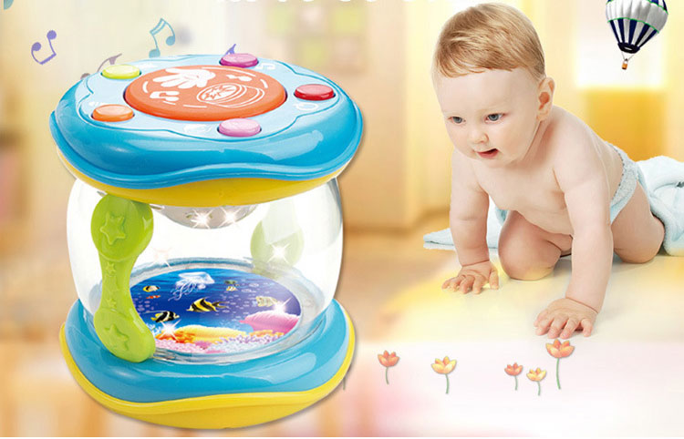 Mini Magic Hand Drum Baby Toy with LED & Music 13