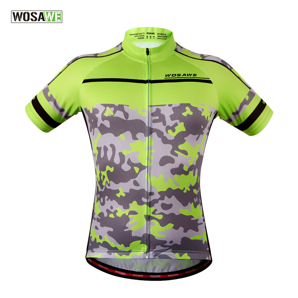 цена на WOSAWE Cycling Jersey Camouflage Clothes Women Men Ropa Ciclismo Tops Bicycle mtb Bike Jersey Shirt Maillot Ciclismo
