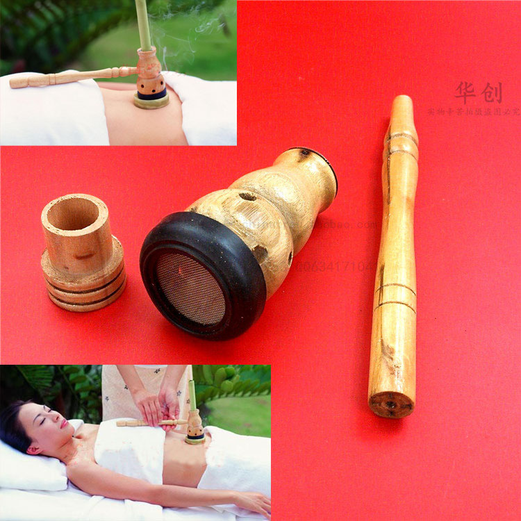 Household wooden aromatherapy furnace gourd moxibustion box querysystem cauterize moxa roll moxa utensils utensils moxibustion box moxa tank querysystem cauterize wormwood box