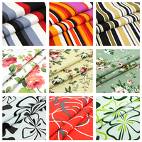 1 Meter Stripe Cotton Canvas Fabric Floral Upholstery Fabric Cushion Covers Cloth Curtain Material Tissus Au