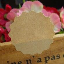 102 шт в форме цветка чистая крафт-бумага стикер этикетки для скрапбукинга, DIY самоклеющиеся Подарочные наклейки s Dia.3.9cm