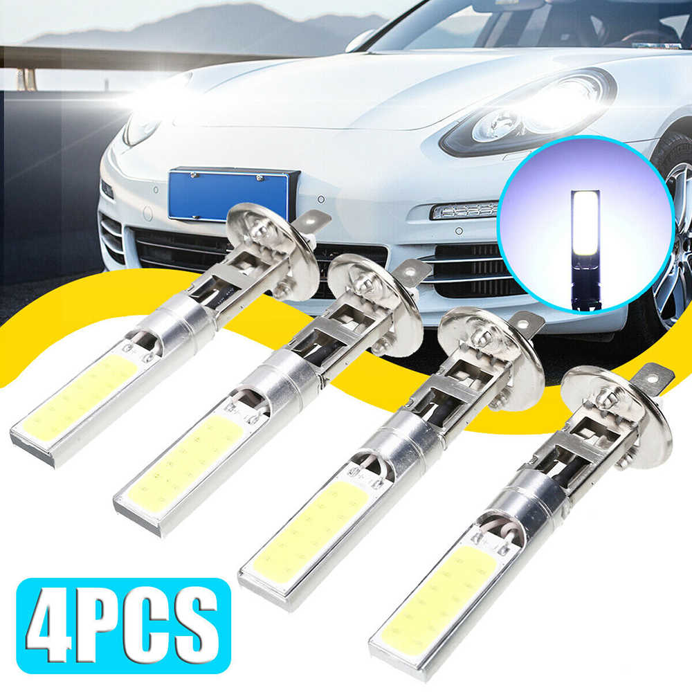 4pcs/set H1 LED Bulbs Car Light Lamp 12V 6000K White Driving Lamp Auto Car LED Lights Bulbs