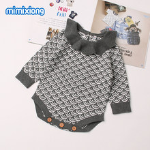 1fb30d0816ed Mermaid Bodysuits For Girls Knitting Onesie Long Sleeve Infant Kids  Jumpsuits Spring Princess Ruffle Neck Toddler