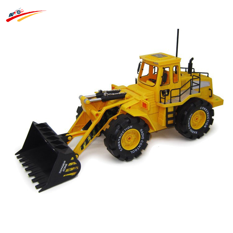 1 10 Series Engineering Car 6 Channel Remote Control Electric Bulldozer Forklift Truck