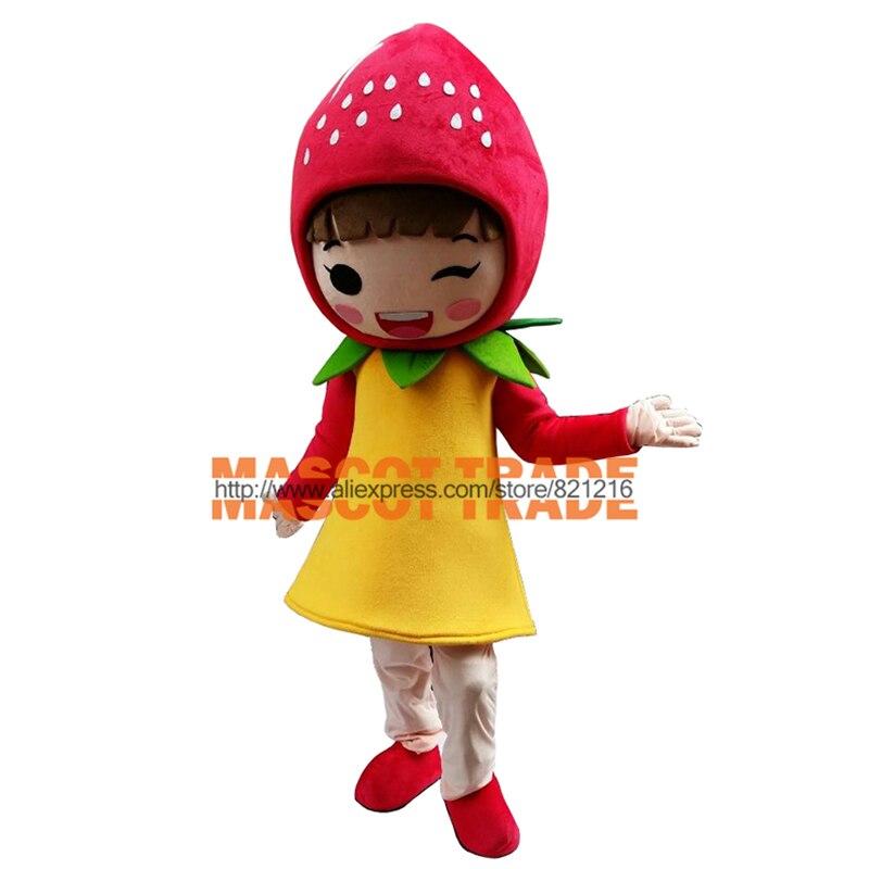 Costume de mascotte de fraise aux fruits personnage de dessin animé costumes de mascotte adulte