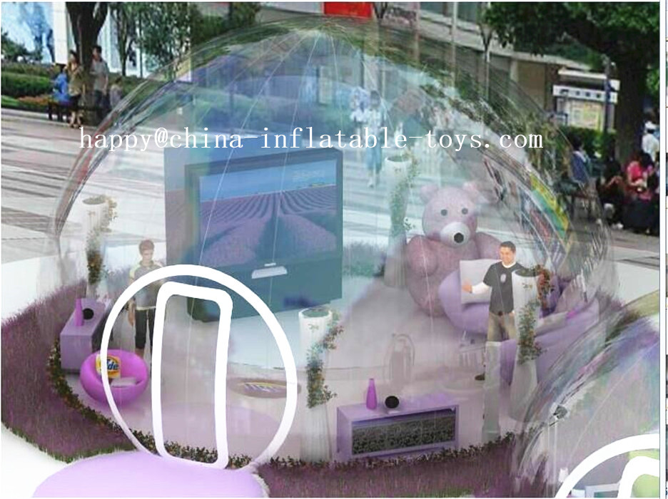 Outdoor Transparent Inflatable Bubble Tent Inflatable Show House Hot sale Commercial Inflatable Clear Lawn Bubble Tent  big inflatable lawn tent transparent pvc inflatable bubble tent for hotel use