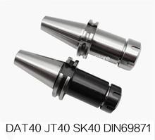 New DIN69871 sk40-er32 DAT40 JT40 SK40 ER32 ER25 ER20 ER16 70L 100L Spring Collet Chuck CNC Toolholder Milling Lathe Cutter стоимость