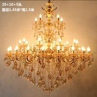 Longree оптовая продажа люстра из горного хрусталя Люстра Подвески золото кристалл свадебные свечи люстры