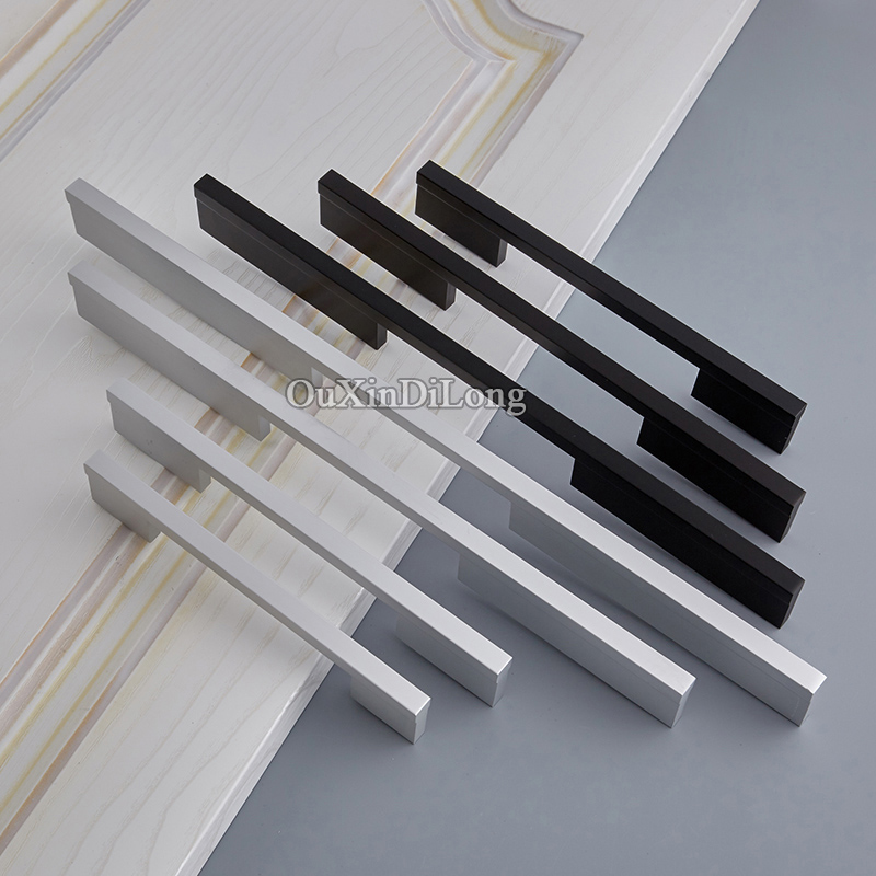 Top Designed 6PCS European Cabinet Pulls Handles Cupboard Wardrobe Drawer Cabinet Kitchen Door Handles&Knobs Furniture Hardware