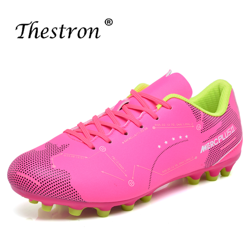 Best 2019 Soccer Shoes For Couple Latest Soccer Cleats Outdoor Long Spike Mens Sport Shoes Brand Training Game Football Sneakers in Soccer Shoes from Sports Entertainment