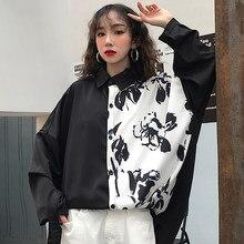 b709fc166b7 Весна chic Женская Одежда Harajuku стиль блузки для малышек с корейским  принтом bf блузка из хипстера модные бренды негабаритных.