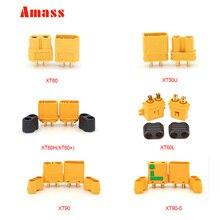 20 шт. AMASS XT60 XT-60 XT 60 XT60H XT60L XT30U XT90 XT90-S антиискра с оболочкой дом разъемы мужской женский для Lipo батареи