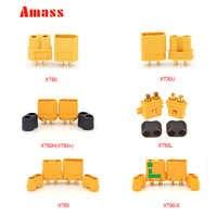 20 pièces AMASS XT60 XT-60 XT 60 XT60H XT60L XT30U XT90 XT90-S anti-étincelles avec gaine connecteurs maison mâle femelle pour batterie Lipo