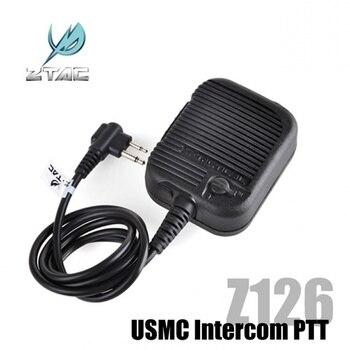 Z Tactical Headset USMC Intercom PTT Softair Military Radio PTT Adapter Ztac Airsoft Headphone Accessories Kenwood Z126