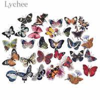 Lychee 31 stücke Schmetterling Aufkleber Bunte Klebe Tagebuch Aufkleber DIY Album Kunst Handwerk Scrapbooking Dekoration