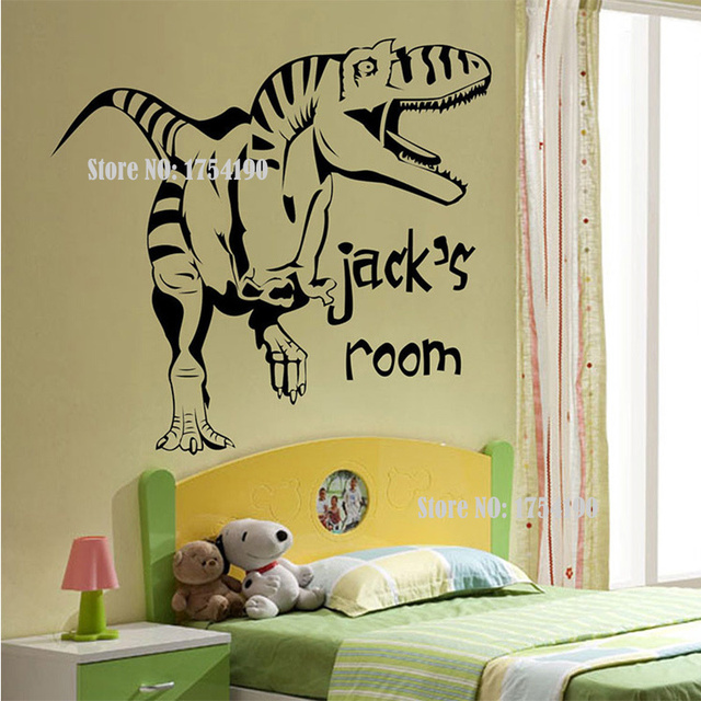 new cartoon removable vinyl wall stickers for kids rooms dinosaur giant wall art children sticker