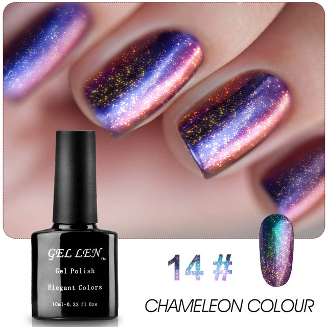 Yaoshun 1pcs Chameleon Change Gel Polish DIY UV Soak Off Gel Varnish Elegant Colors Nail Art Long Lasting Led Gel Polish